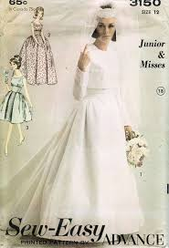 wedding dress jacket 1960s bridal gown wedding dress jacket pattern advance 3150