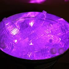 club pack of 12 battery operated led purple waterproof