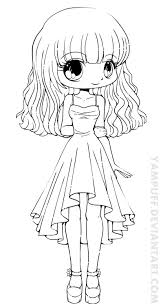 cute cute anime coloring pages to print coloring page and