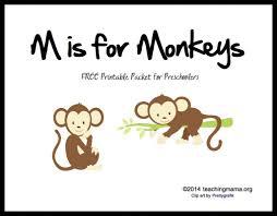 is for monkeys letter m printables