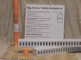 schluter kerdi shower kit center drain location shower