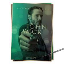 online shop john wick movie poster 2014 vintage retro adornment