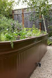 Corrugated Metal Garden Beds Steal This Look Water Troughs As Raised Garden Beds Gardenista