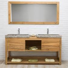 meuble sous vasque vasque en bois teck massif 2
