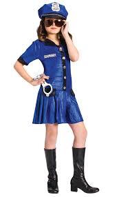 Monster Halloween Costumes Girls Police Costume Kids Costumes