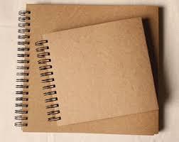 blank photo album 98 pages spiral bound blank kraft photo album ring binder photo