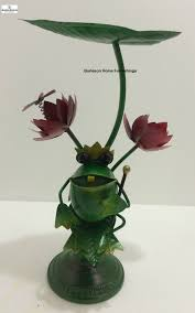 large metal frog with crown home decor and similar items
