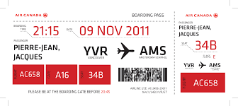 canada airline boarding pass design emily carr university