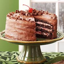 cherry chocolate layer cake recipe taste of home
