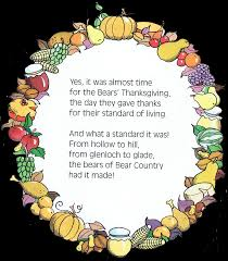 poems about thanksgiving and family uncategorized the berenstain bears blog page 2