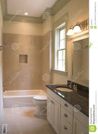 Simple Bathroom Simple Bathroom With Tile And Stone Royalty Free Stock Photos