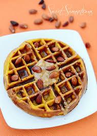 thanksgiving waffle pumpkin waffles with peanut butter u0026 almond nuts sweet samsations