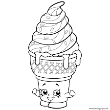 ice cream emoji sweet ice cream dream shopkins season 2 coloring pages printable