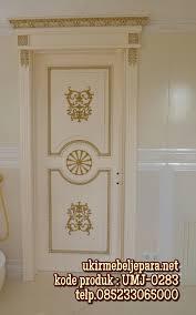 jual pintu kamar model ukiran cat mewah suplier furniture ukir