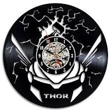 avengers home decor thor avengers vinyl record clock wall art home decor large outdoor