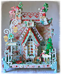 christmas chipboard house prima sweet peppermint collection