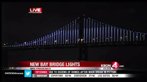 Bay Bridge Lights New Bay Bridge Light Display Wows Opening Night Audiences Youtube