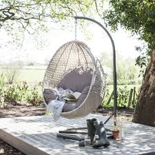 wallace sacks brighton hanging rattan pod chair with stand