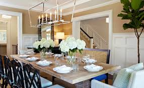 Linear Chandelier Dining Room Linear Chandelier Dining Room House Beautiful