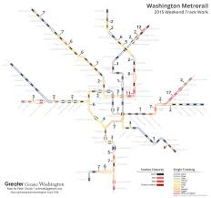 Washington Metro Map Pdf by Here U0027s Where Metro Did All Its Weekend Track Work In 2015