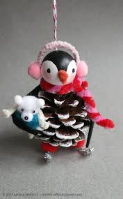 mmmcrafts handmade gifts 2014 penguin ornaments for thing 1 and