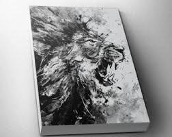 Lion Decor Home Lion Art Etsy