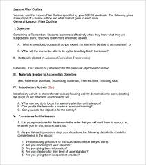 lesson plan outline template u2013 10 free free word pdf format