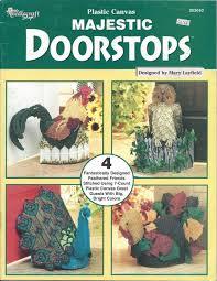 plastic canvas thanksgiving patterns majestic doorstops plastic canvas pattern book home decor