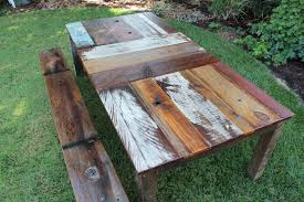 Wood Patio Table Reclaimed Wood Outdoor Furniture Patio Table Designs And Benches
