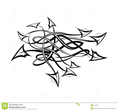 tribal tattoo with arrows stock vector image of spiky 8442681