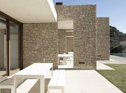 modern home in monasterios spain stone wall home design and home