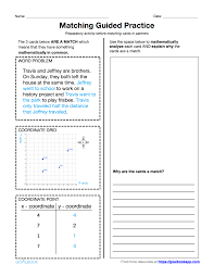 Coordinate Geometry Worksheets 5 G 2 Word Problems Involving The First Quadrant Math Geometry