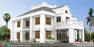 4450 sq ft 5 bedroom luxury colonial home kerala home design