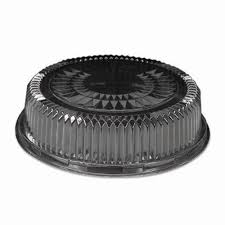 clear 12 inch dome lids for round serving tray 25 lids hfa 4012dl