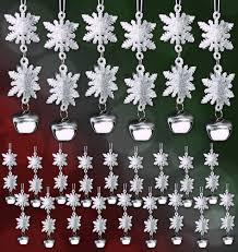 3d snowflake ornaments set of 12 silver