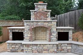 stone outdoor fireplace binhminh decoration