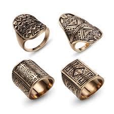 men vintage rings images Dodado design vintage midi ring set antique gold color finger jpg