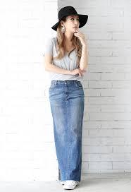 denim maxi skirt moery rakuten global market original morelia moery denim maxi