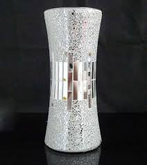 Silver Mercury Glass Vases Wholesale Handicraft Silver Decorative Cheap Mirror Flower Glass Mosaic