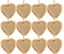 firefly craft rustic burlap ornaments package of 12