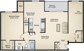 one bedroom apartments in md one bedroom with den home design plan
