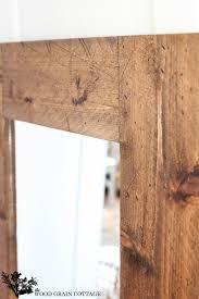 wood framed diy wood framed mirror the wood grain cottage