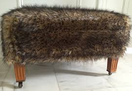 Fuzzy White Ottoman Ottomans Fur Ottoman Diy Storage Ottoman Faux Fur Sofa