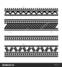 stock vector maori polynesian style bracelet tattoo 99302255 jpg