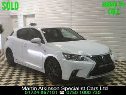 lexus sports car white second hand lexus ct 200h 1 8 f sport 5dr cvt auto premium sat