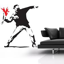 banksy hooligan wall sticker funky iconic wall decor