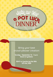 pot luck dinner free dinner party invitation template