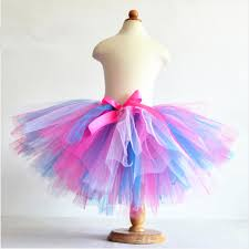 tulle for sale hot sale summer fluffy 3 layer rainbow tutu skirts baby kids
