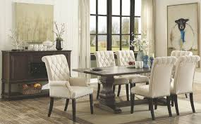 parkins rustic espresso rectangular dining room set from coaster