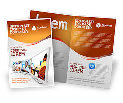 computer education in brochure template design and layout